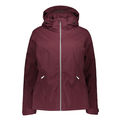 Raiski Fjalla Women's Ski Jacket For Plus Size Women Wine Red