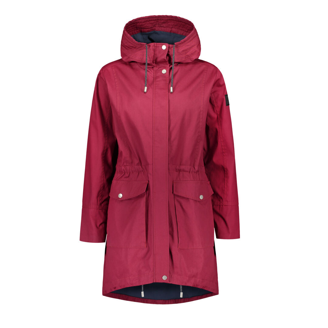 Raiski Vuono Women's Red Parka Jacket