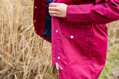 Raiski Vuono R+ Parka Jacket Beet Red