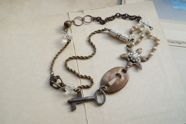 Vintage Escutcheon Necklace