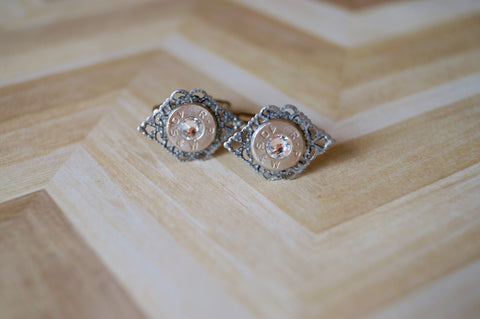 Bullet Cuff Links - Filagree Style