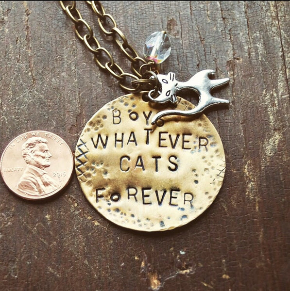 Custom Stamped Metal Necklace