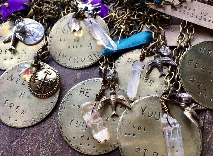 custom stamped metal jewelry