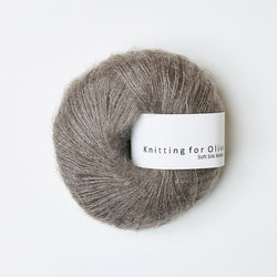 Knitting for Olive Soft Silk Mohair - Gråbrun