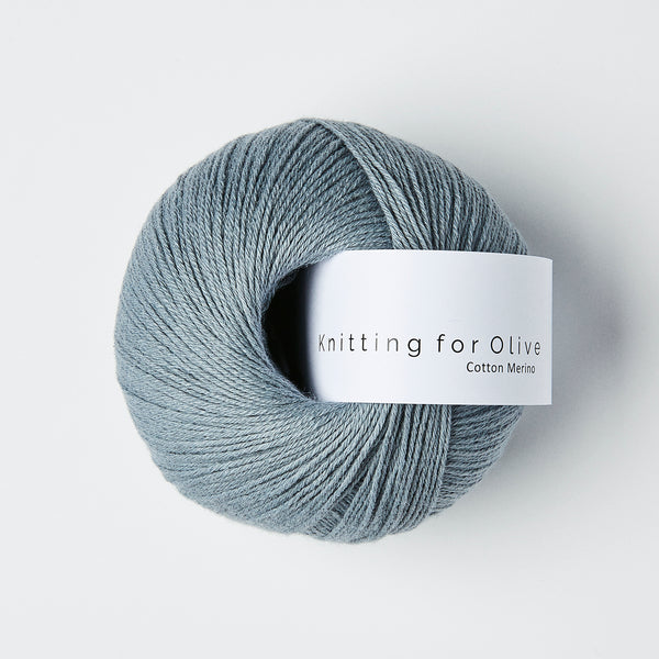 Knitting for Olive Cotton Merino - Elefantblå