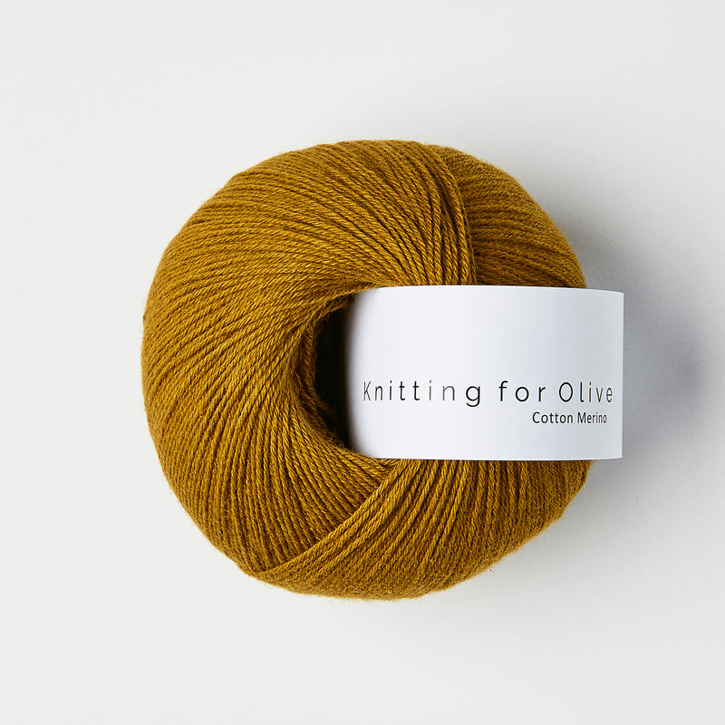 Knitting for Olive Cotton Merino - Mørk Okker