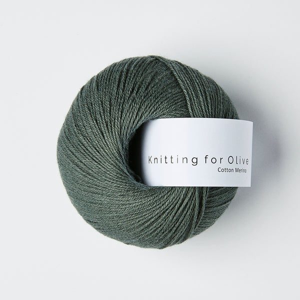 Knitting for Olive Cotton Merino - Mørk Søgrøn