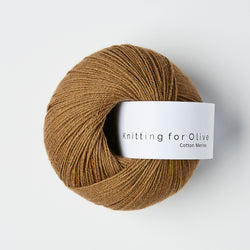Knitting for Olive Cotton Merino - Nøddebrun