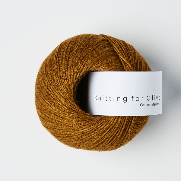 Knitting for Olive Cotton Merino - Okkerbrun