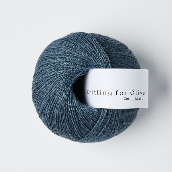 Knitting for Olive Cotton Merino - Støvet blåhval