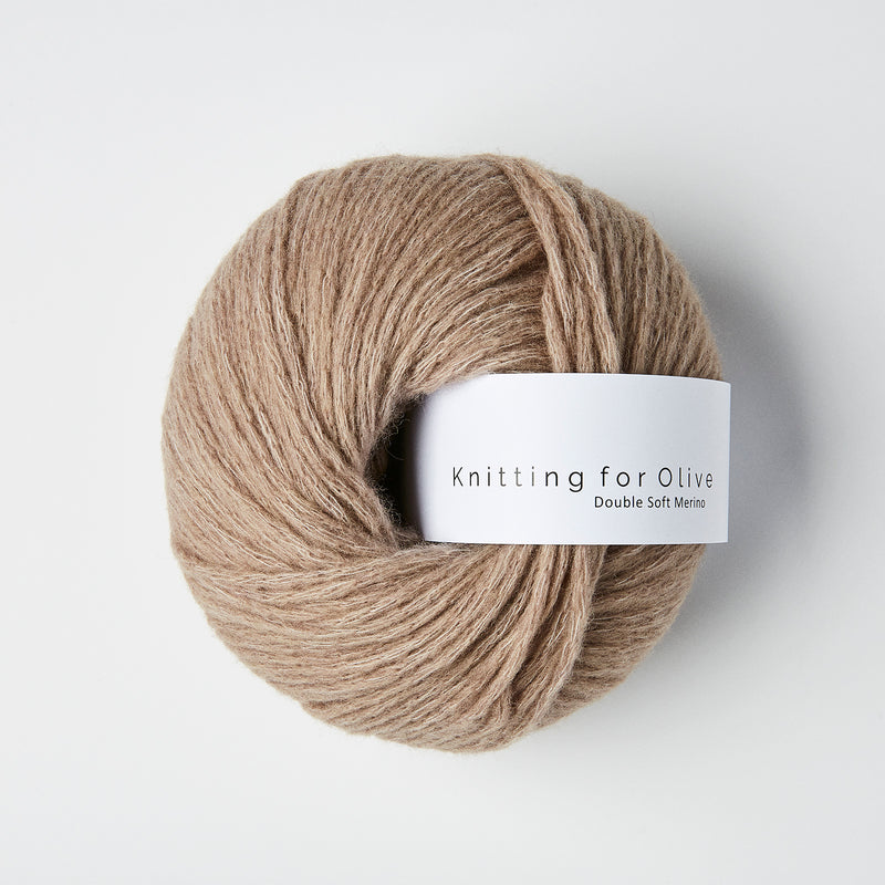 Knitting for Olive Double Soft Merino - Hasselnød