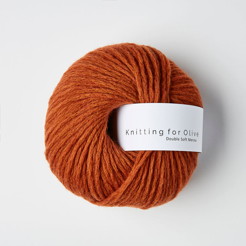 Knitting for Olive Double Soft Merino - Rust
