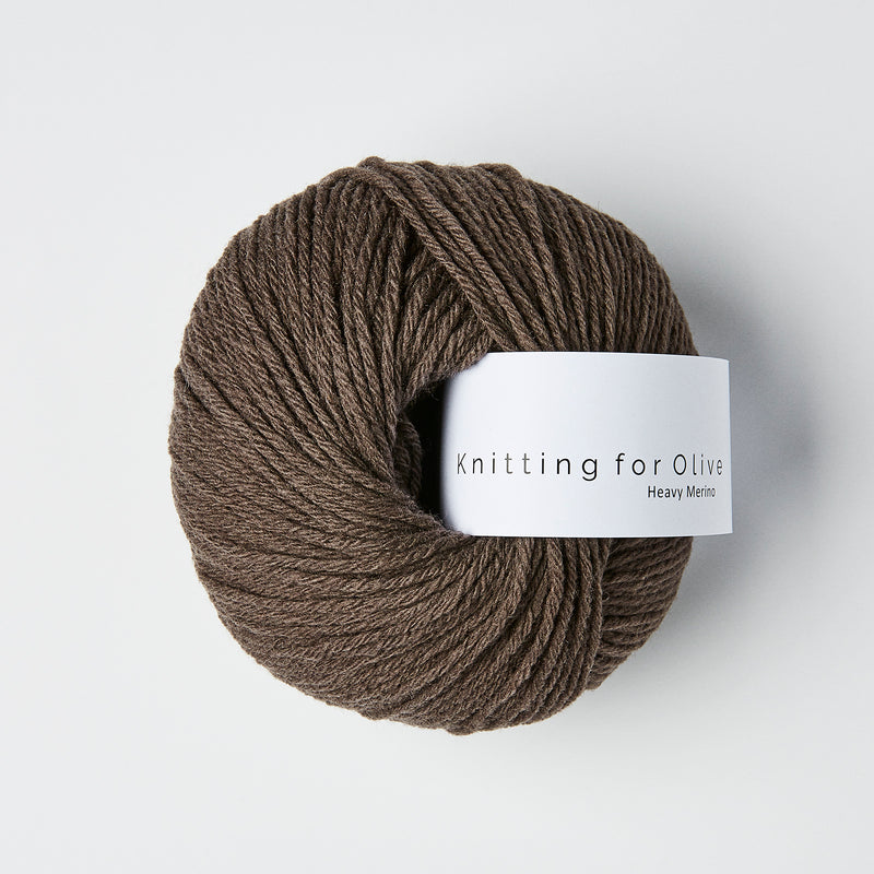 Knitting for Olive HEAVY Merino - Mørk Elg