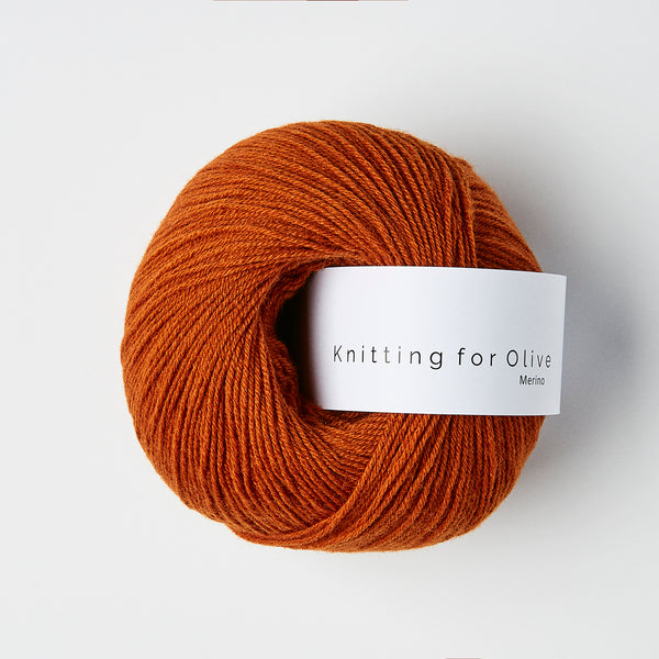 Knitting for Olive Merino - Brændt Orange