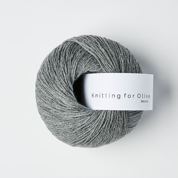 Knitting for Olive Merino - Granitgrå