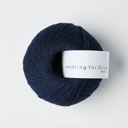 Knitting for Olive Merino - Marineblå