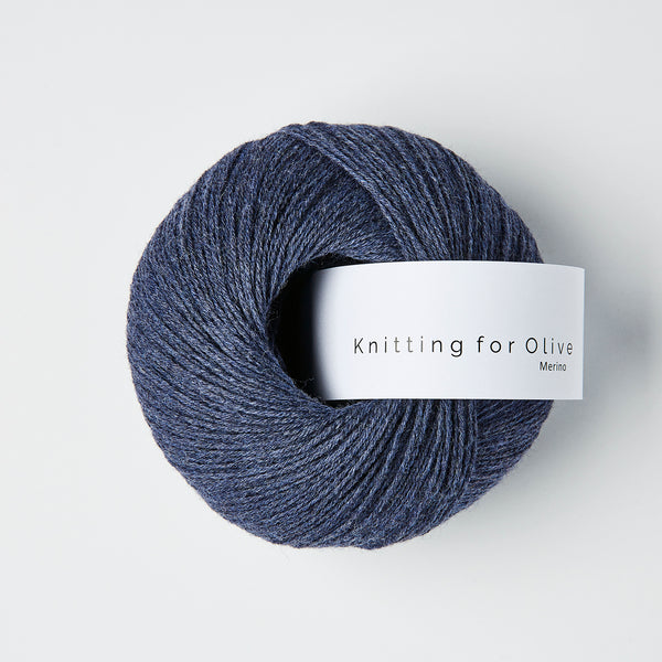 Knitting for Olive Merino - Mørkeblå