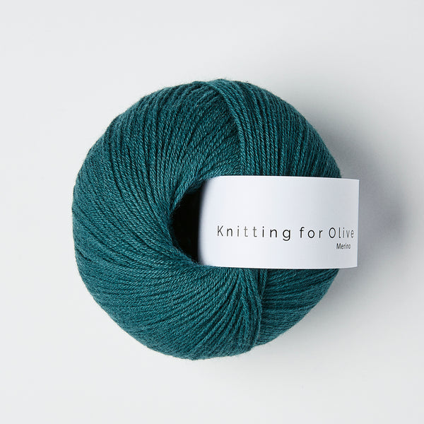 Knitting for Olive Merino - Petroleumsgrøn