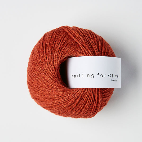 Knitting for Olive Merino - Rødkælk