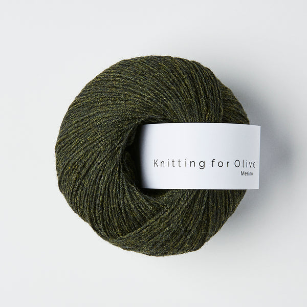 Knitting for Olive Merino - Skifergrøn