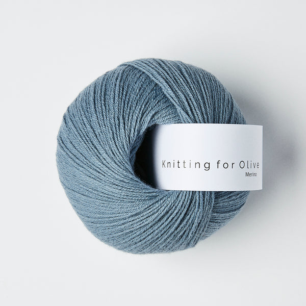 Knitting for Olive Merino - Støvet Dueblå
