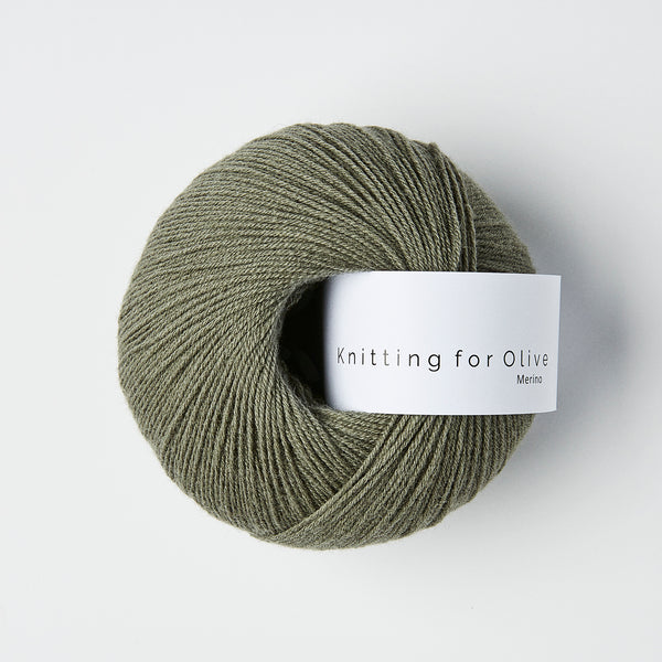 Knitting for Olive Merino - Støvet Søgrøn