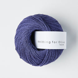 Knitting for Olive Pure Silk - Blå Kornblomst