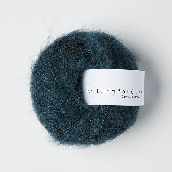 Knitting for Olive Soft Silk Mohair - Dyb Petroleumsblå