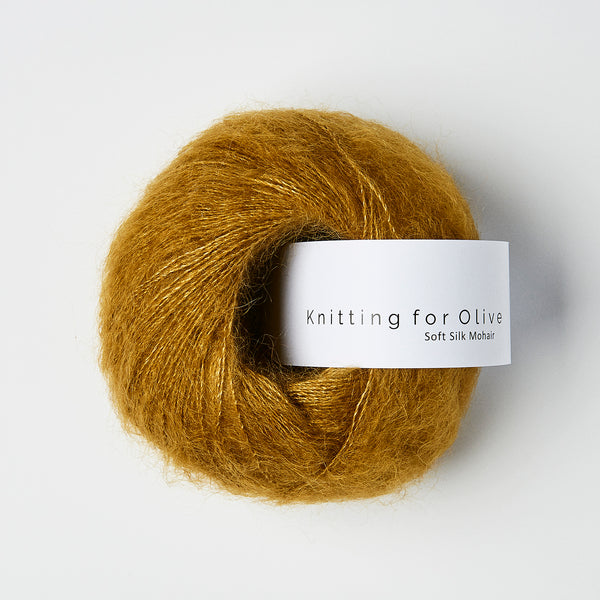 Knitting for Olive Soft Silk Mohair - Mørk Sennep