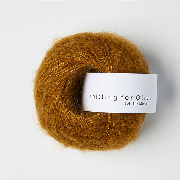 Knitting for Olive Soft Silk Mohair - Okkerbrun