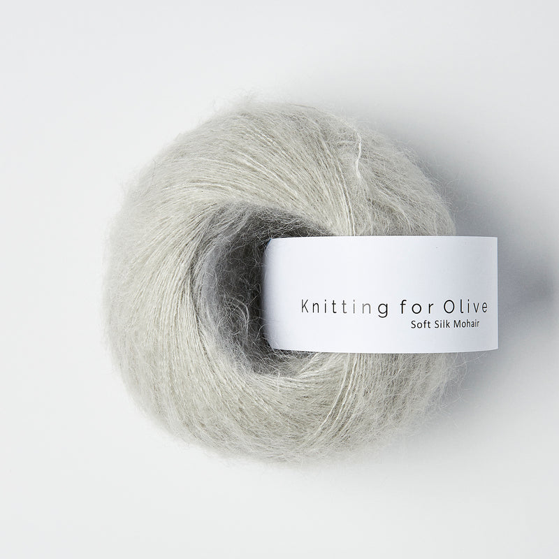 Knitting for Olive Soft Silk Mohair - Perlegrå