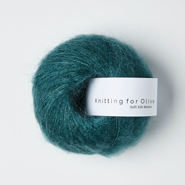 Knitting for Olive Soft Silk Mohair - Petroleumsgrøn