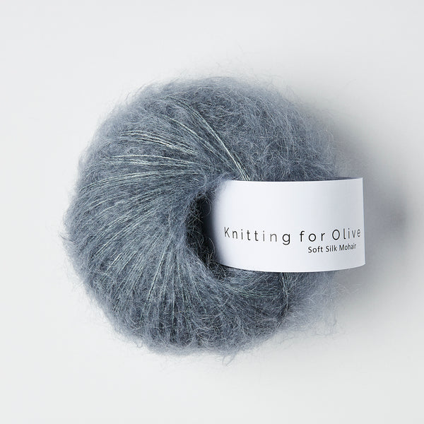 Knitting for Olive Soft Silk Mohair - Støvet Petroleumsblå