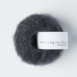 Knitting for Olive Soft Silk Mohair - Skifergrå
