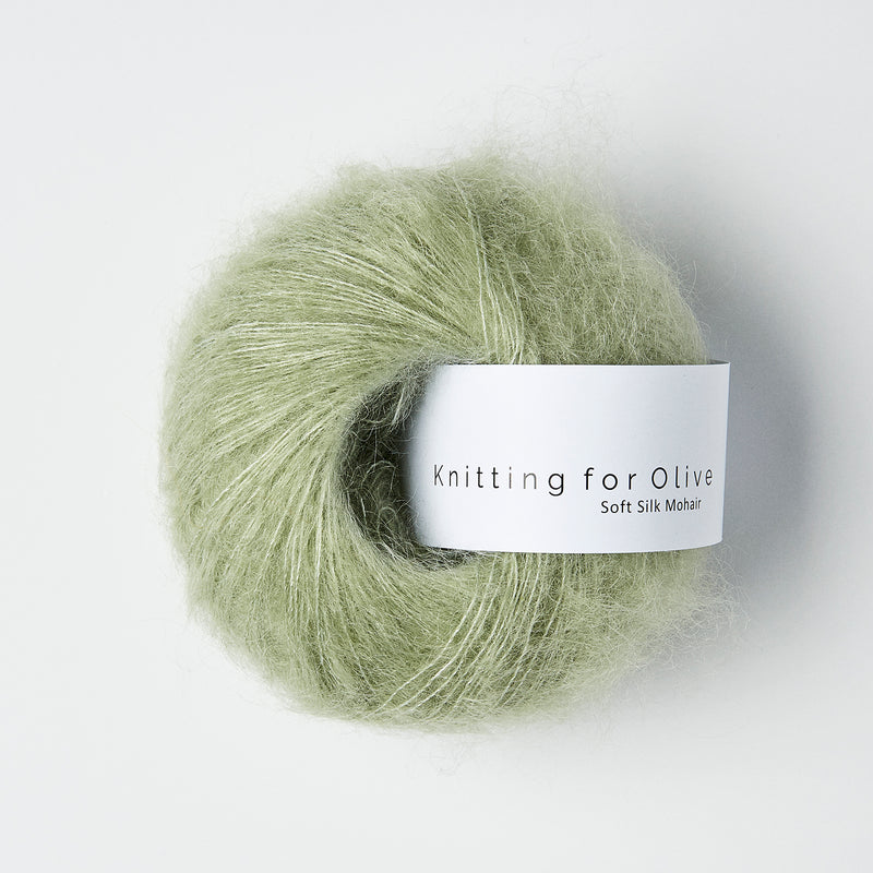 Knitting for Olive Soft Silk Mohair - Støvet Artiskok