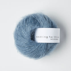 Knitting for Olive Soft Silk Mohair - Støvet Dueblå