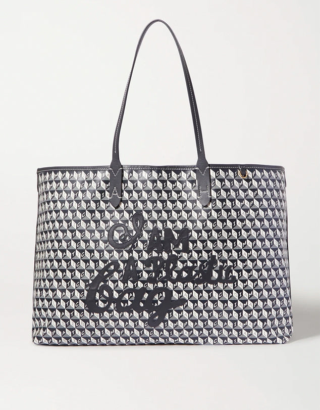 ANYA HINDMARCH + NET SUSTAIN I Am A Plastic Bag large canvas tote