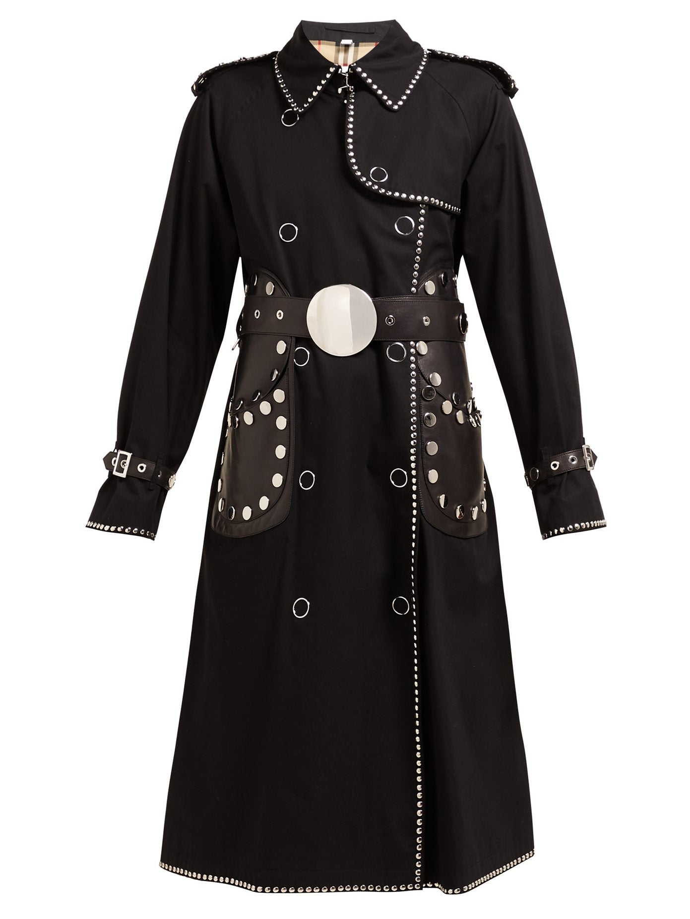 Burberry - Silver studded black trench
