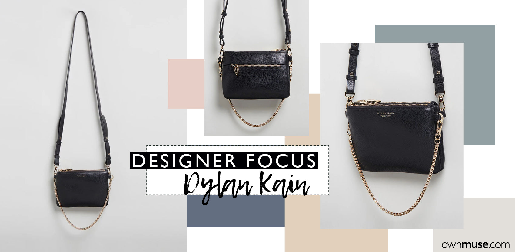 Dylan Kain The LSC - Original Black shoulder bag ownmuse.com