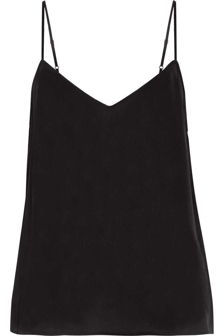 Equipment - Layla black silk camisole top featured in Capsule Wardrobe blog post on ownmuse.com