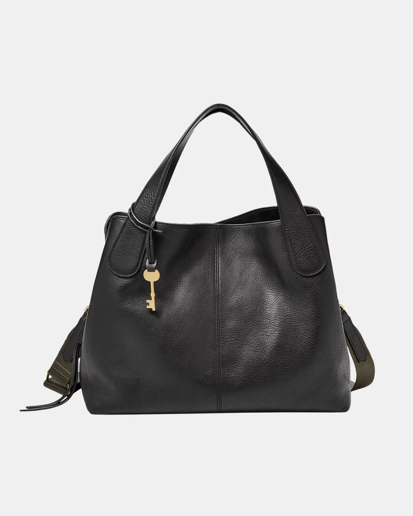 Fossil - Maya Black Satchel Bag