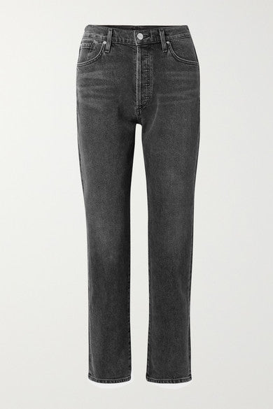 Goldsign - 'The Benefit' High-rise straight-leg jeans