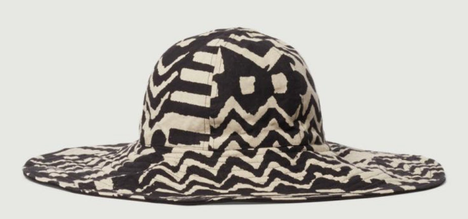 Gorman - Black and white patterned 'Mangrove' hat