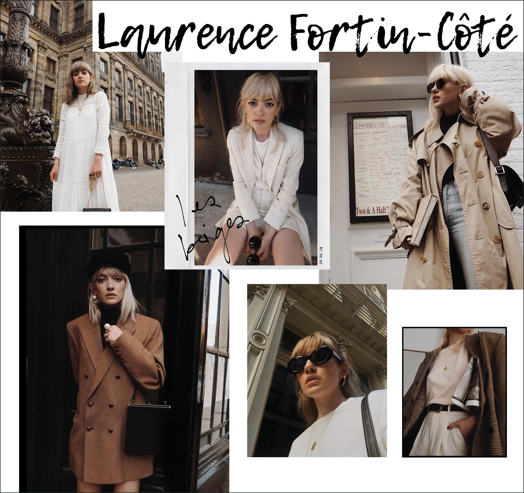 Laurence Fortin-Côté - Instagram feed trulylaur - Collage of images for Style Muse Influencer featured in OwnMuse