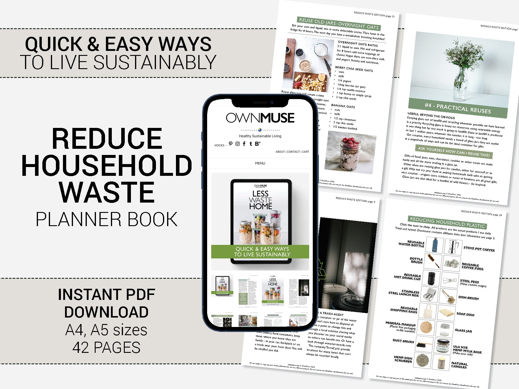 Step-by-step Sustainable Living Guide: Less Waste Home