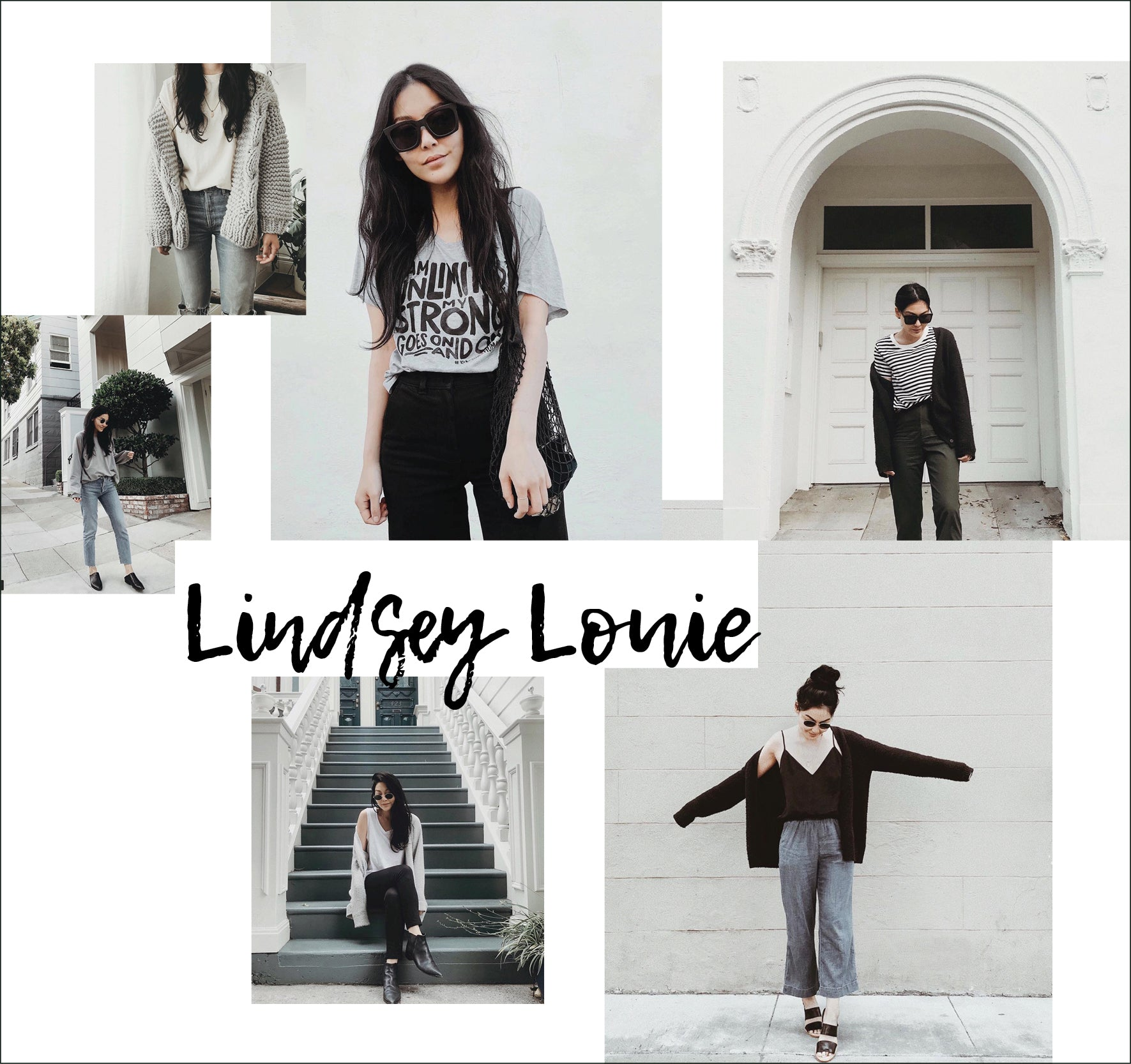 Lindsey Louie instagram images collage design as style icon muse featured on ownmuse.com