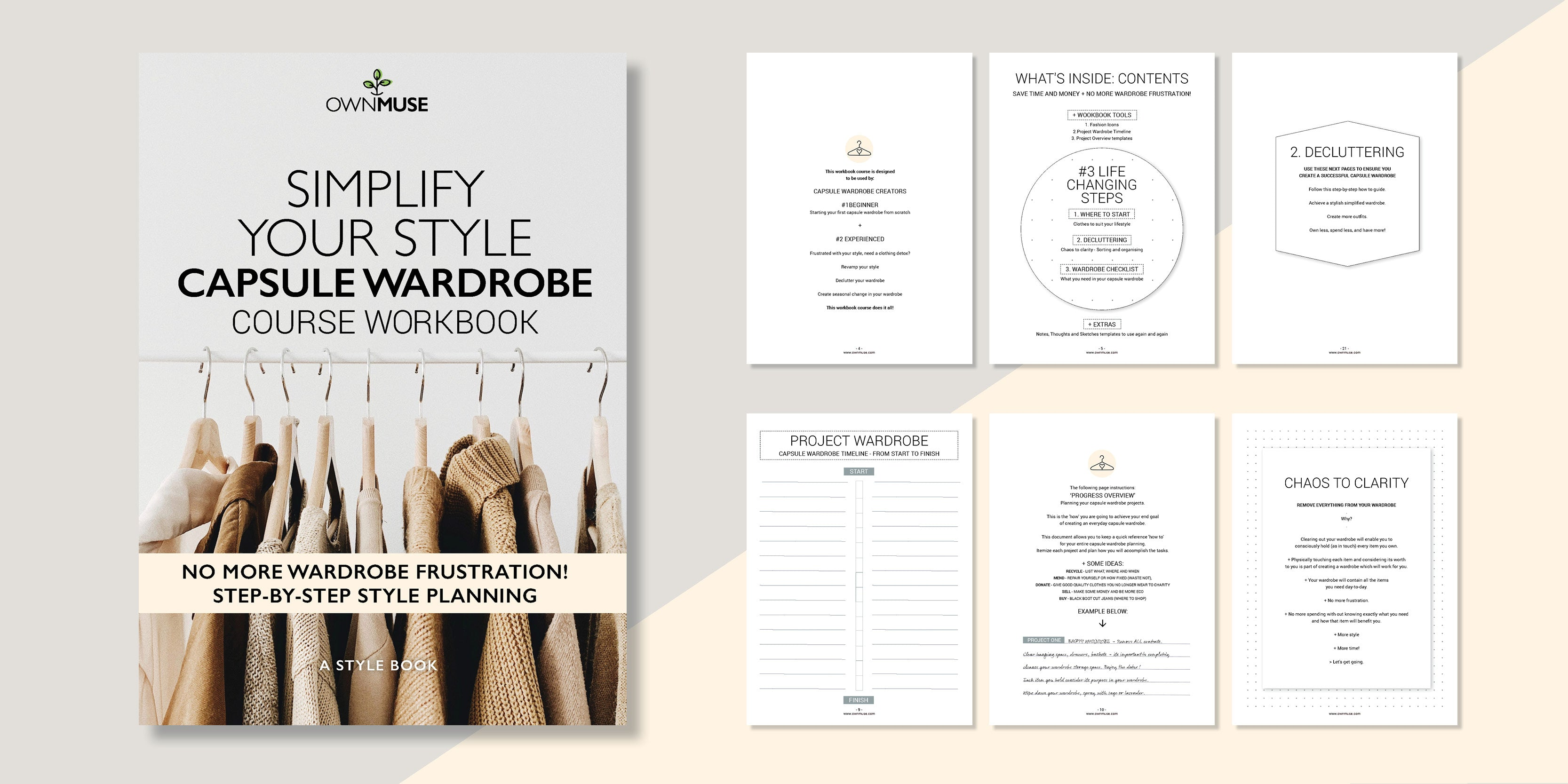 Simplify Your Style: Capsule Wardrobe - Course Workbook