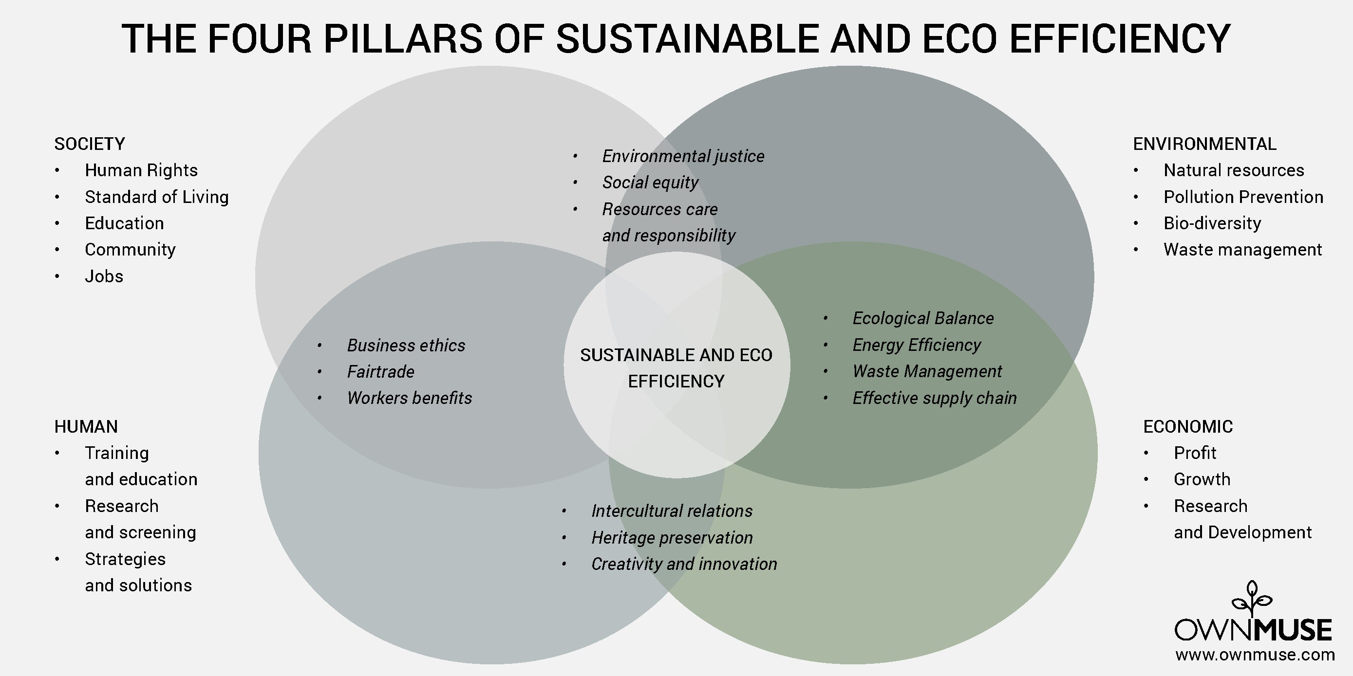 The Four Pillars of Sustainable and Eco Efficiency
