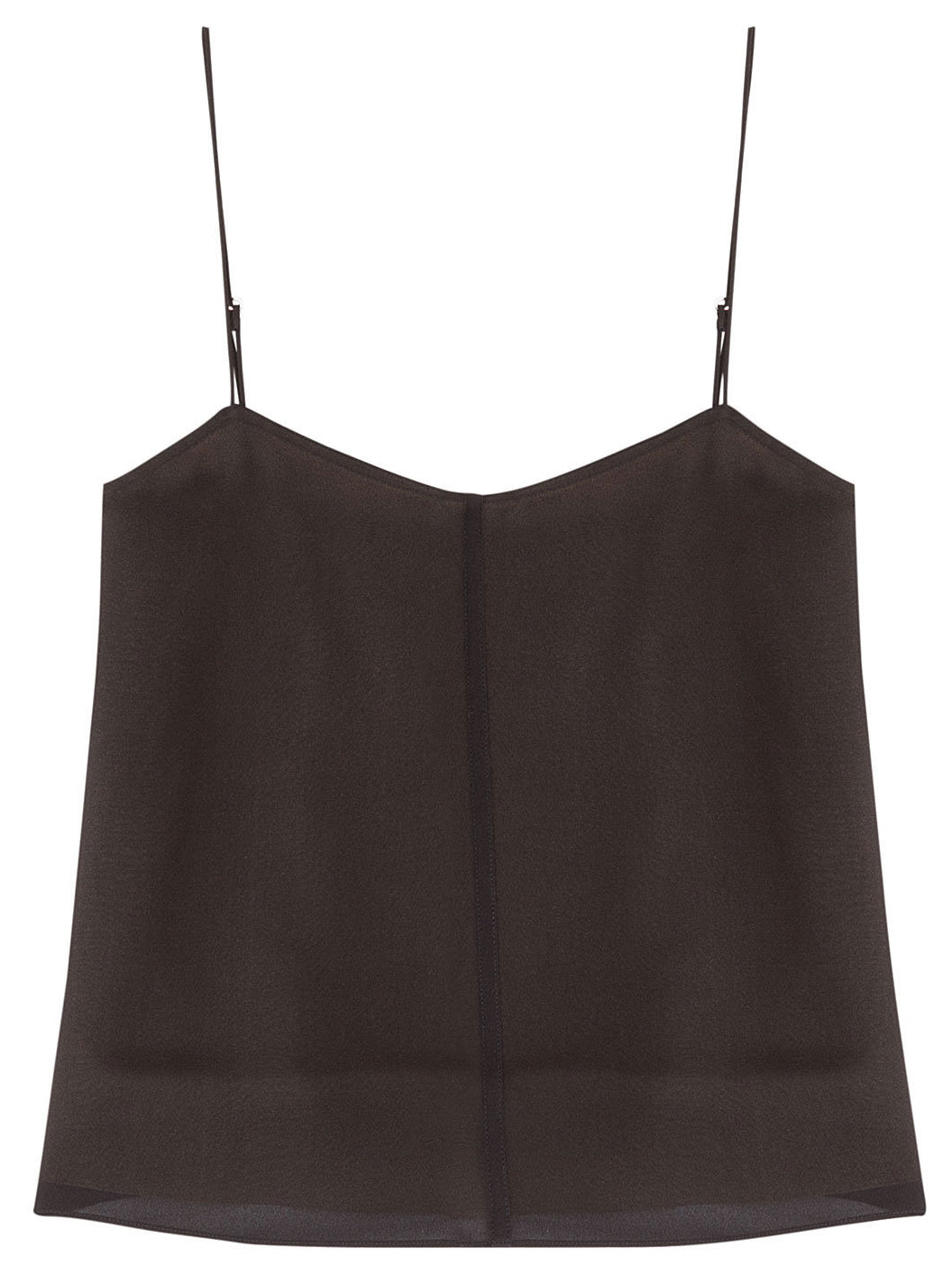 T by Alexander Wang - Black silk camisole top