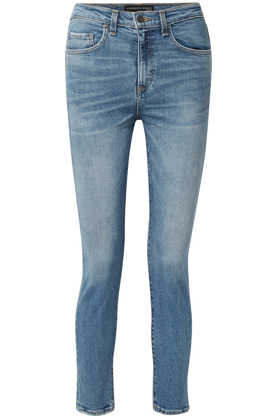 Veronica Beard - Blue high waisted jeans featured in Capsule wardrobe on ownmuse.com